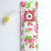 Porta Lixa Floral Rosa