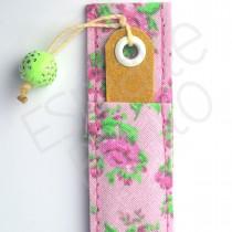 Porta Lixa Floral Rosa com Fundo Rosa