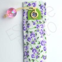 Porta Lixa Floral Roxo