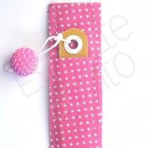 Porta Lixa Rosa com Poás