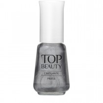 Esmalte Top Beauty Prata Cintilante 9ml