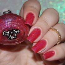 Esmalte By Vanessa Molina Cat Star Galaxy Red