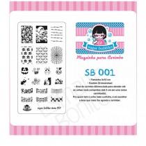 Placa para Carimbo Sugar Bubbles 001
