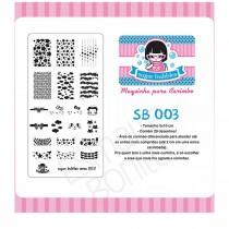 Placa para Carimbo Sugar Bubbles 003