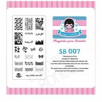 Placa para Carimbo Sugar Bubbles 007