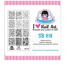 Placa para Carimbo Sugar Bubbles 018
