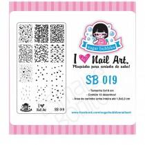 Placa para Carimbo Sugar Bubbles 019