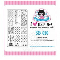 Placa para Carimbo Sugar Bubbles 020