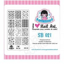 Placa para Carimbo Sugar Bubbles 021