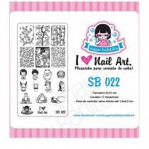 Placa para Carimbo Sugar Bubbles 022
