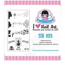 Placa para Carimbo Sugar Bubbles 025