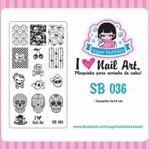 Placa para Carimbo Sugar Bubbles 036