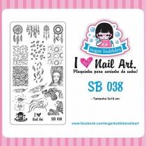 Placa para Carimbo Sugar Bubbles 038