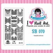 Placa para Carimbo Sugar Bubbles 070