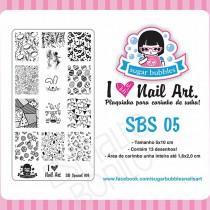 Placa para Carimbo Sugar Bubbles SBS 05