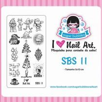 Placa para Carimbo Sugar Bubbles SBS 11