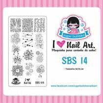 Placa para Carimbo Sugar Bubbles SBS 14
