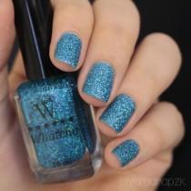 Esmalte Whatcha Turquoise Glitter