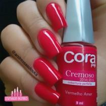 Esmalte Cora Vermelho Amor Cremoso