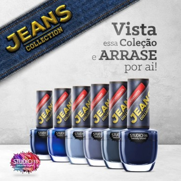 Esmaltes Coleção Jeans Collection Studio 35