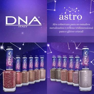 Esmaltes coleção Astro DNA Italy efeito tridimensional com 12 cores