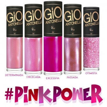 Esmaltes Gio Antonelli Kit Pink Power