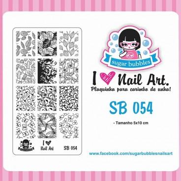 Placa para Carimbo Sugar Bubbles 054