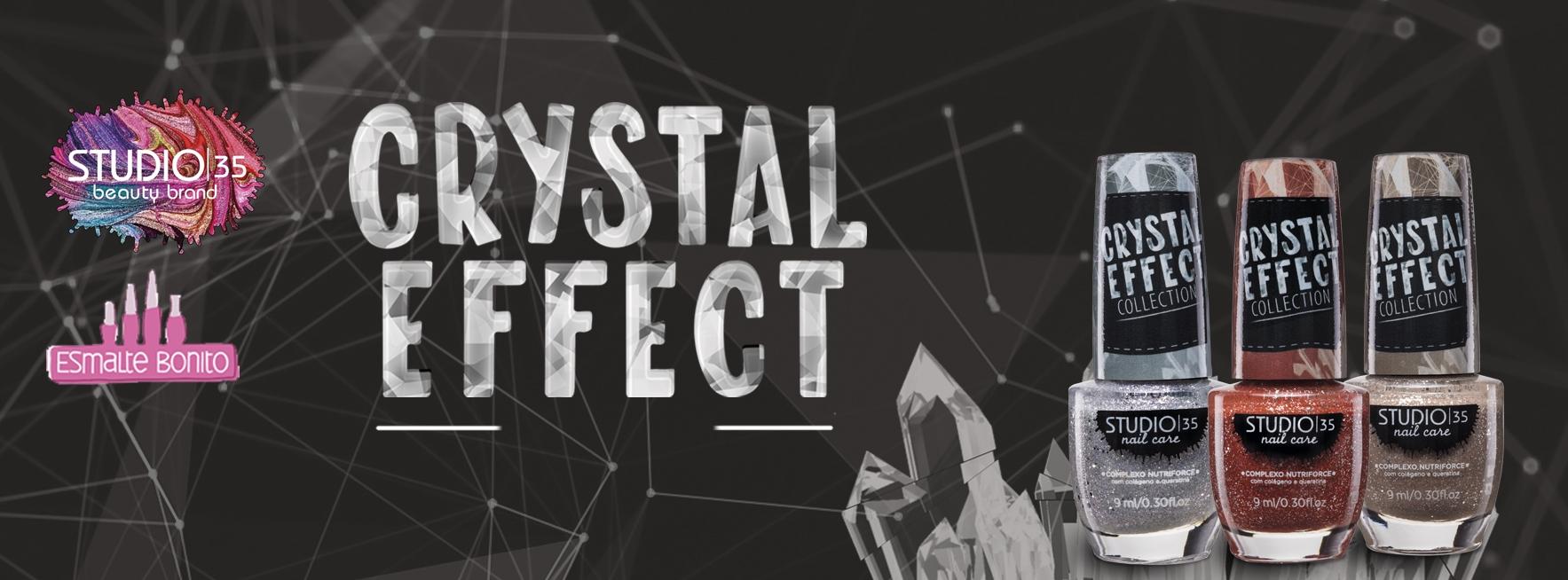 Esmaltes coleção Crystal Effect Studio 35